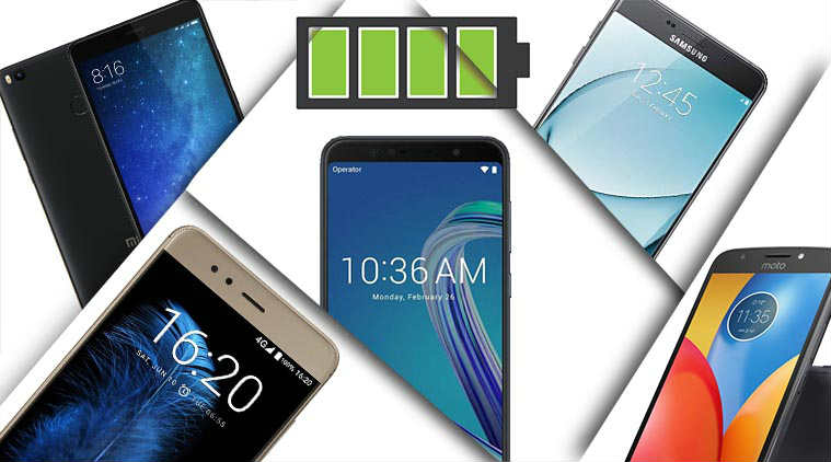 The best phones with a powerful battery in 2018