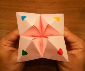 How to make a fortune teller (Origami)?