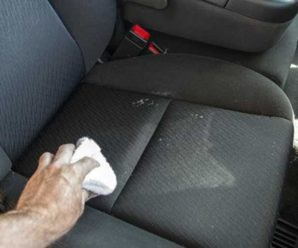How to remove vomit from car seats?