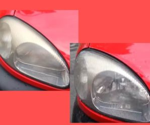 How to restore opaque car headlights with a headlight cleaner?
