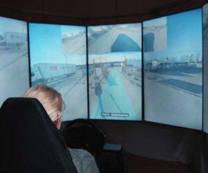 A driver controls several autonomous trucks remotely
