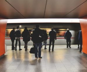 Wearing a mask in the metro detected by surveillance cameras