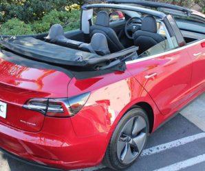 A Tesla Model 3 convertible!