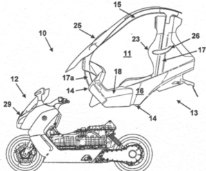 BMW: soon an electric scooter with removable roof?